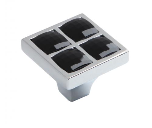 Мебельная ручка RC411CP/CrBl.4 RC411CP/CrW.4