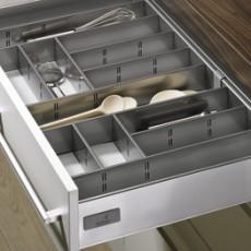 Лоток для столовых приборов InnoPlus для InnoTech в модуль 600, 470х520 мм, серый, Hettich