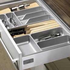 Лоток для столовых приборов OrgaTray 410 Basic для InnoTech, модуль 550, 441-520х451-500мм, серый, Hettich