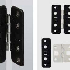 Монтажная планка для защелкиваемой средней петли WingLine 26/77, пластмасса, черная, Hettich