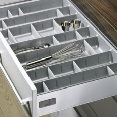 Лоток для столовых приборов OrgaTray 560 Professional для InnoTech, модуль 600, 462х515мм, серый, Hettich