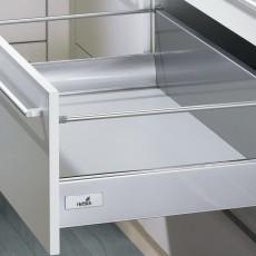 InnoTech, ящик 176х470 мм, серый, частич. выдв-е, плавн. закр. (нагр. 25 кг), Hettich
