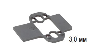 Параллельная дистанционная планка Intermat/Ecomat, дистанция 3 мм, Hettich