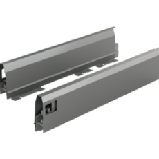 Комплект боковин ящика ArciTech с соединителями передней панели, NL 500, H94, цвет антрацит, Hettich